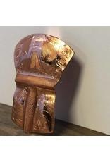 Pendant - copper shield, hummingbird, Sandi McKay