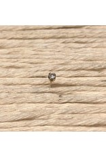 Nose stud - diamond, stamped 14kt gold