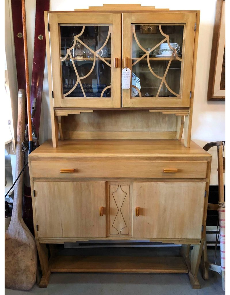 Cabinet - 1930s step back cabinet with butterscotch Bakelite pulls
