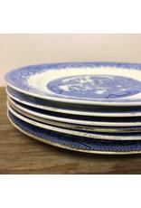 "Salad plate - Royal Grafton bone china blue willow, 7 3/4"""