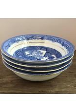 Small bowl - Royal Grafton bone china blue willow fruit/sauce dish, 1940s