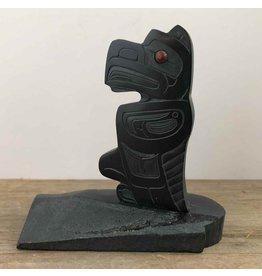 Argillite eagle statue