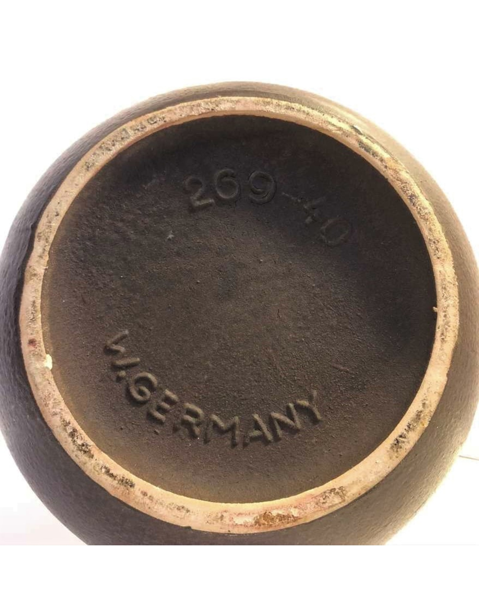 Vase - floor sizes, Scheurich, West German, 269-40, brown and cream