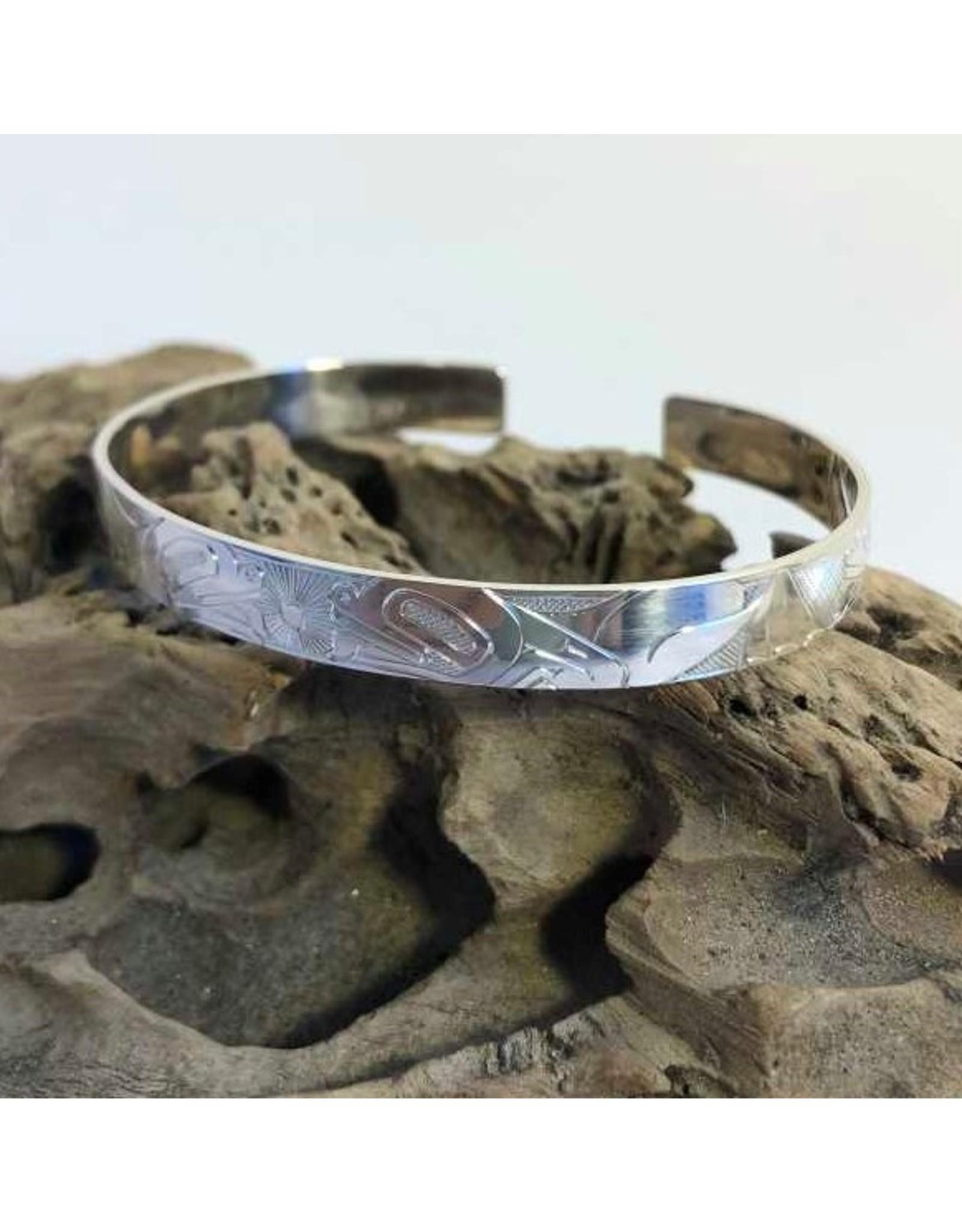 Silver bracelet - Four frogs- Matthew McKay