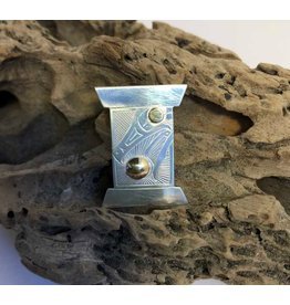 Bentwood box style pendant