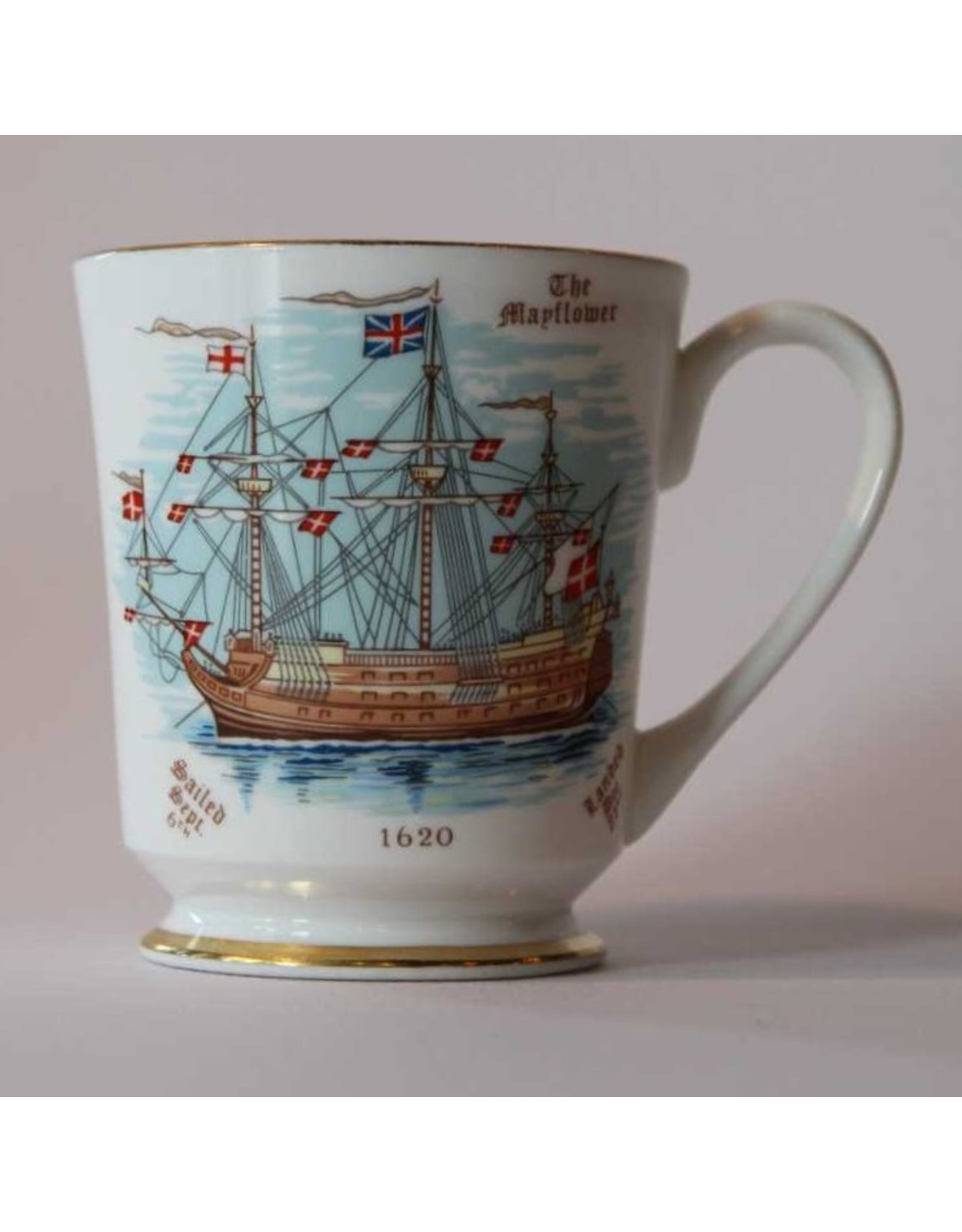 Mug - Aynsley porcelain Mayflower 350th Anniversary Commemorative