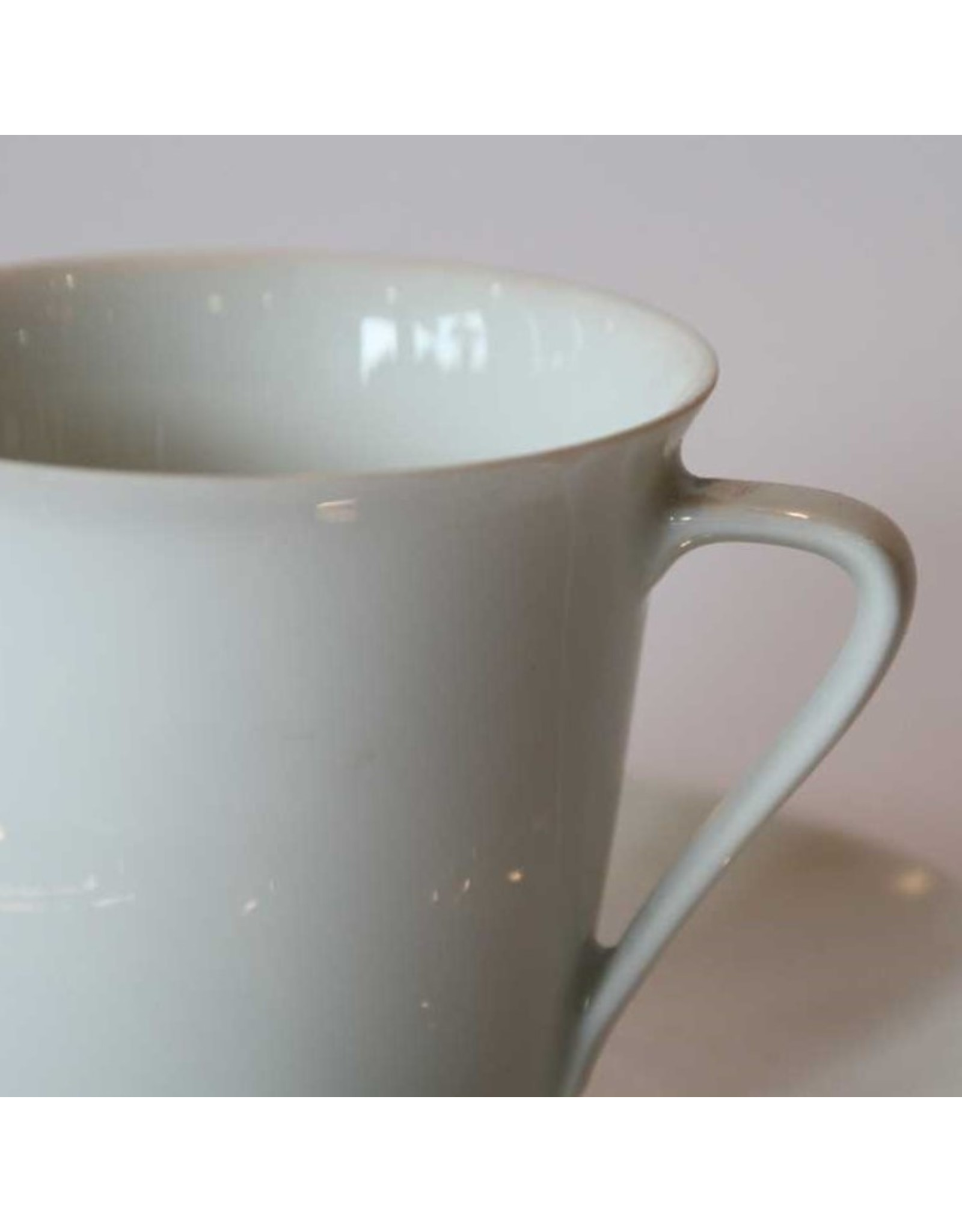 Cup and saucer - white porcelain, Rosenthal