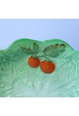 Plate - Carltonware tomato/cabbage leaf, vintage