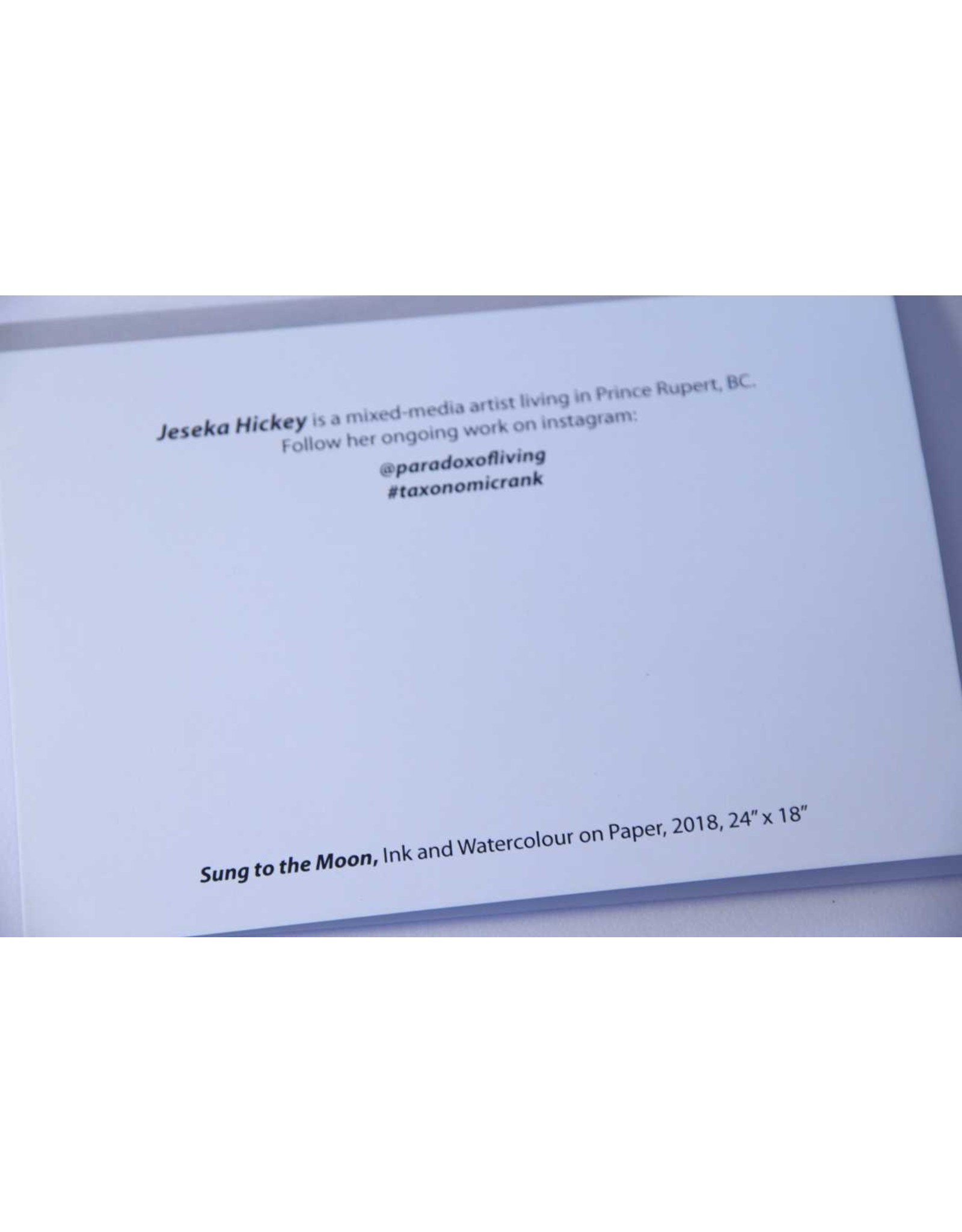 Jeseka Hickey Card - Sung to the Moon
