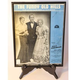 Framed sheet music