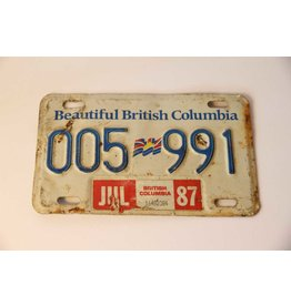BC license plate 005 991