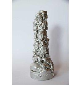 Aluminum slag sculpture