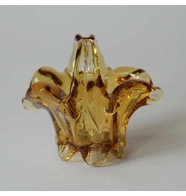 Small glass amber basket
