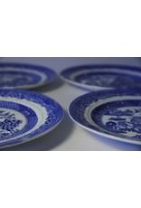 "Dessert plate - Shore & Coggins bone china blue willow, 7"""