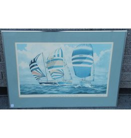 Framed print of sailing race