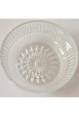 Set of four glass bowls with underplates
