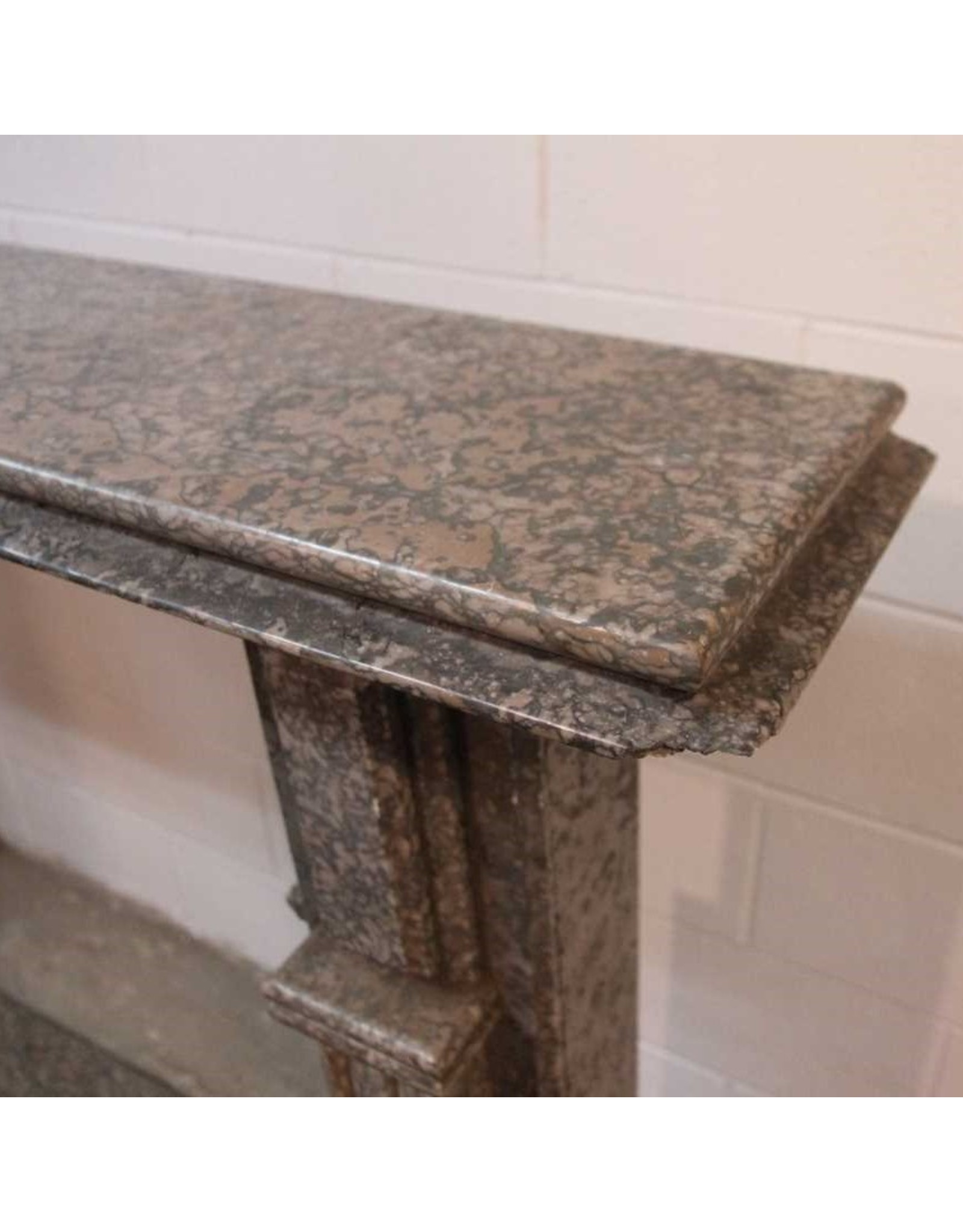 Fireplace surround - grey marble / granite