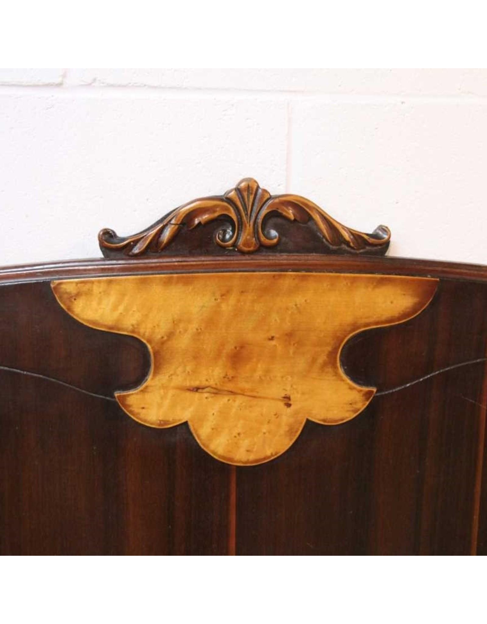 Headboard - forties, birds eye maple burl detail