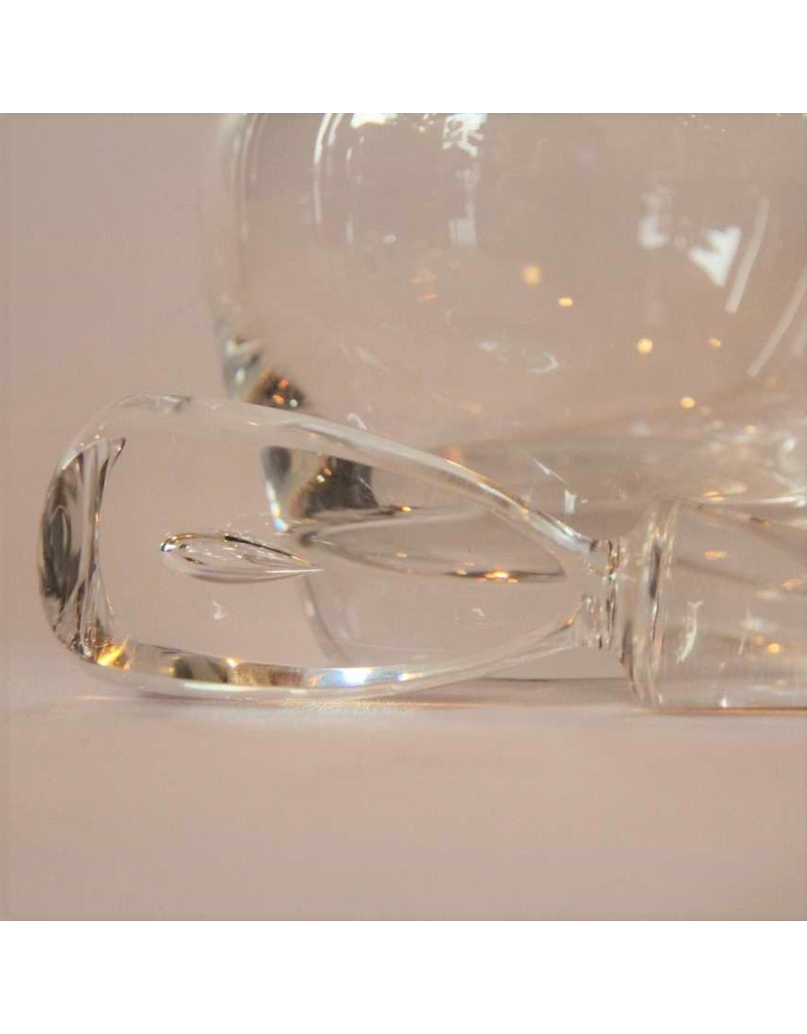 Decanter - signed Steuben crystal with teardrop stopper