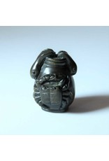 Netsuke  Crab with eels- hand carved, signed, Japanese, ox bone signature plaque