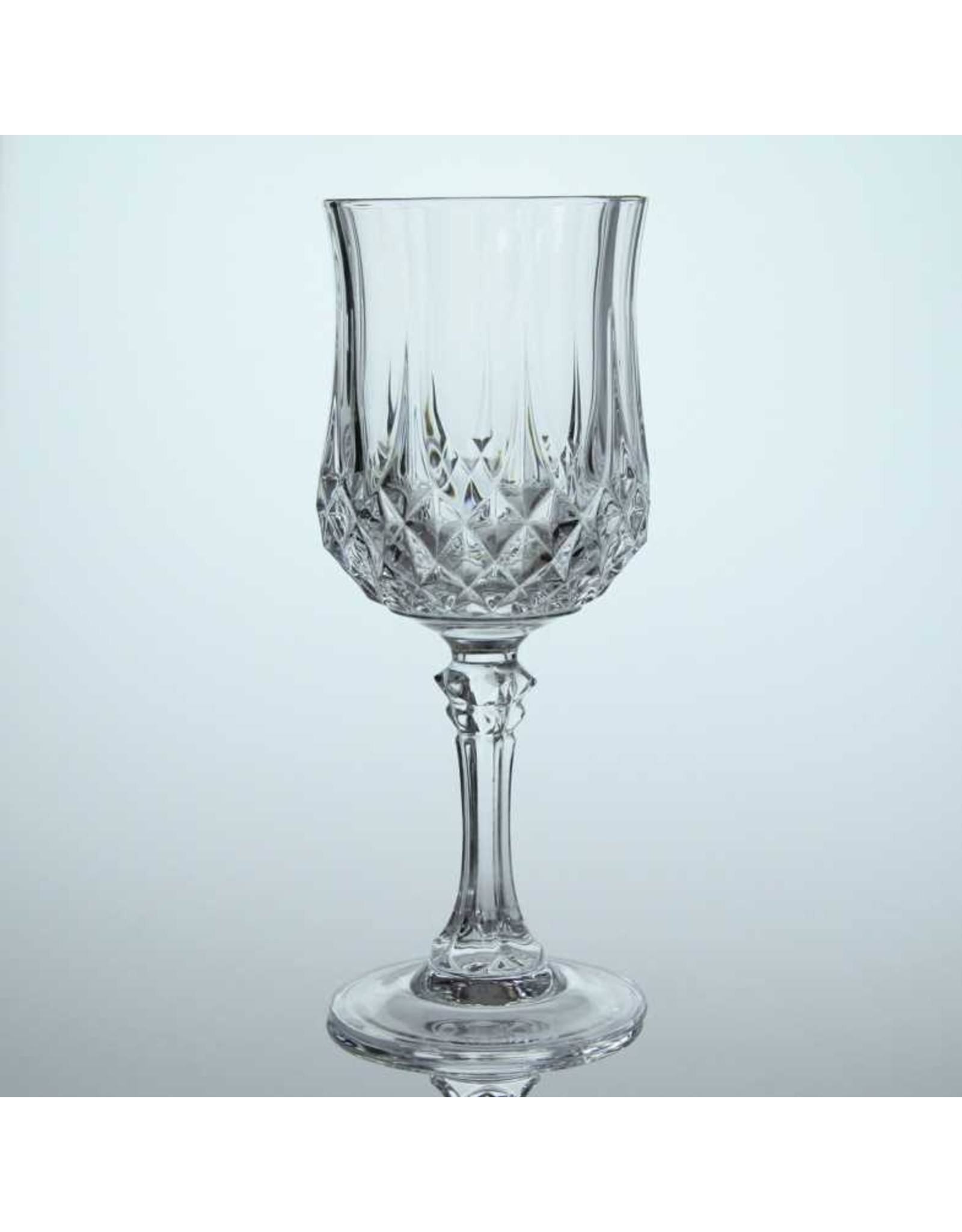 Wine glasses - pair, glass, diamond point