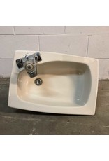 Sink - drop-in porcelain corner faucet Crane sink