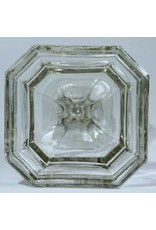 Glass oil lamp base