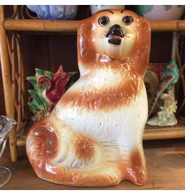 Figurines - pair of Staffordshire style mantle dogs