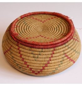 First Nations woven basket with lid