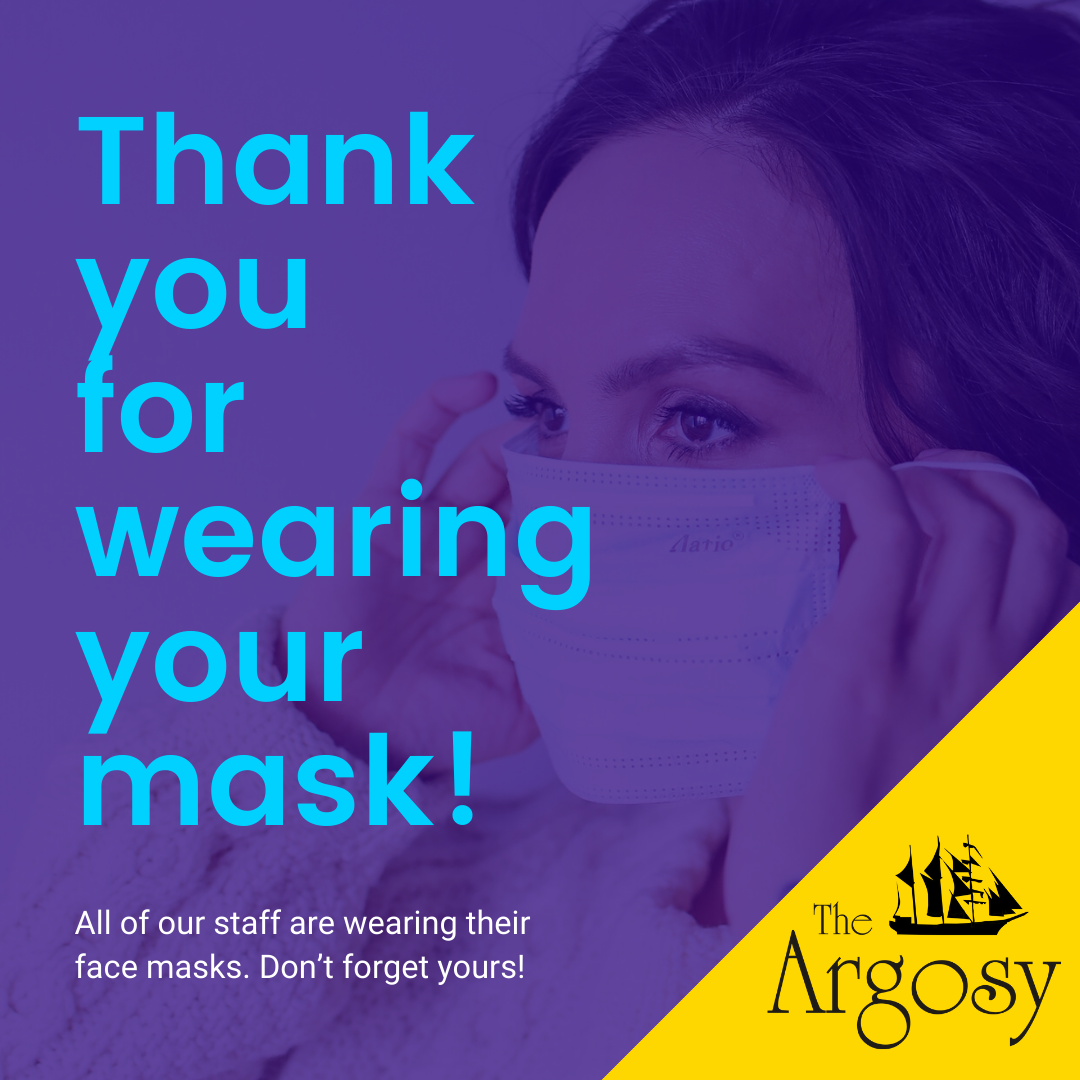 Thank you for wearing your mask!