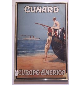 Original lithographed Cunard poster