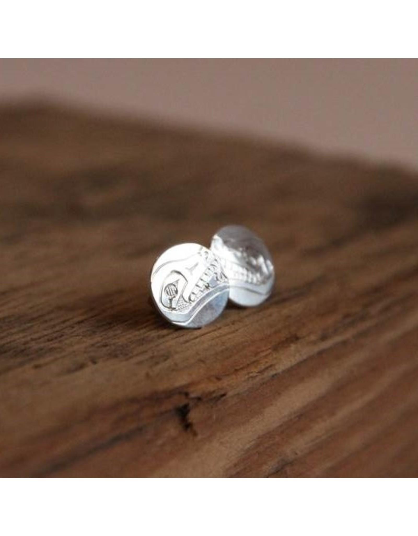 Stud earrings - Silver, wolf