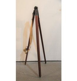 Antique brass and wood tripod