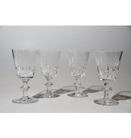 Crystal liqueur glasses