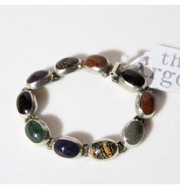 Bracelet - Mexican silver stones