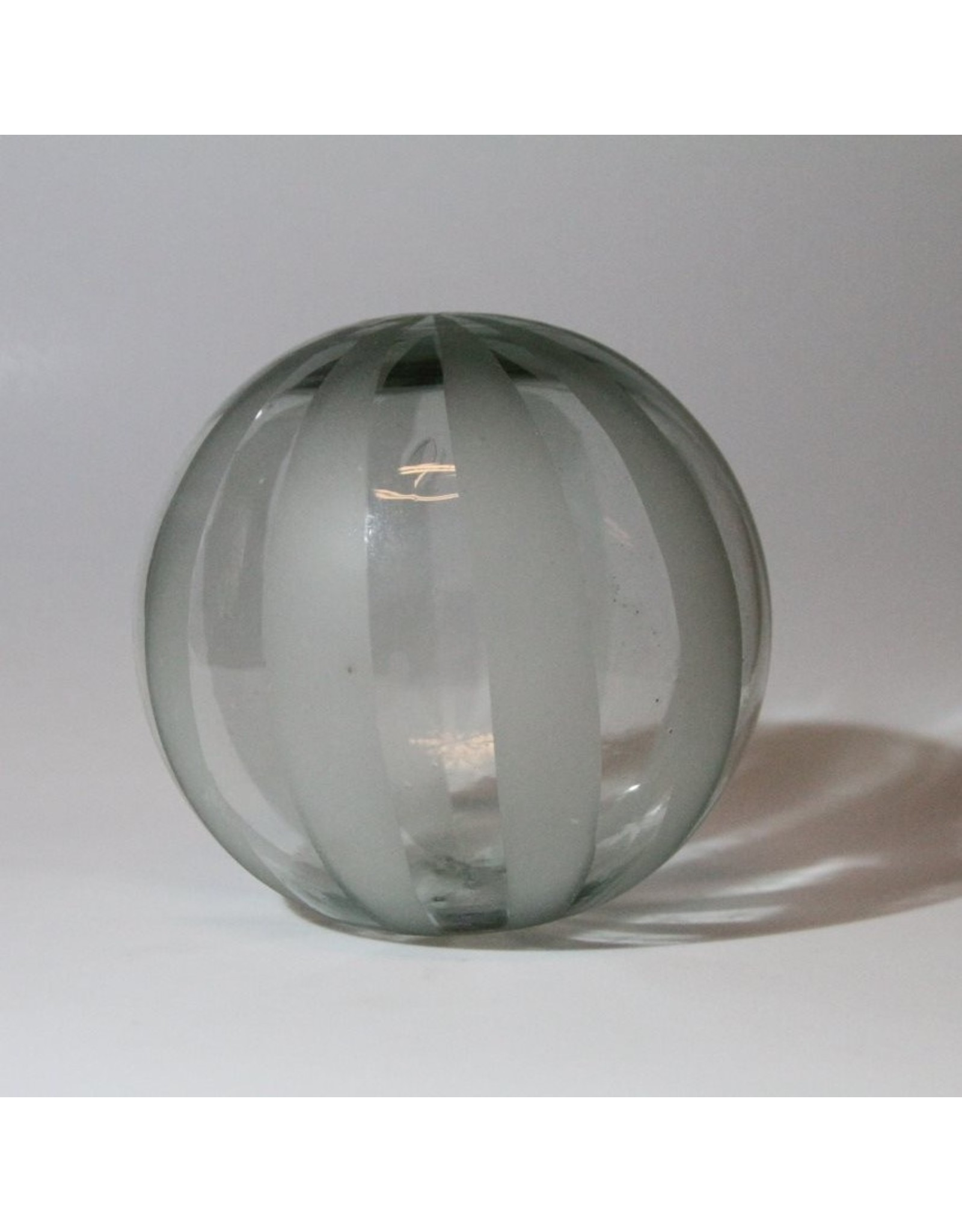 """Glass float - etched striped 6"""""""