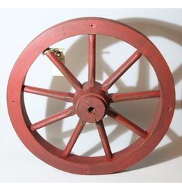 Wooden wheel, painted red