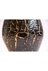 Vase - art glass handblown crackle effect