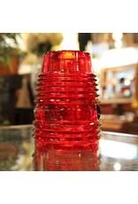 lantern shade - vintage, Handlan, red