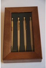 Pens (4) in wooden display box