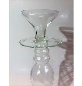 Tall glass candleholder