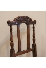 Chair - antique rush seated,