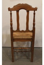 Chair - antique rush seated, some damage to seat, as is