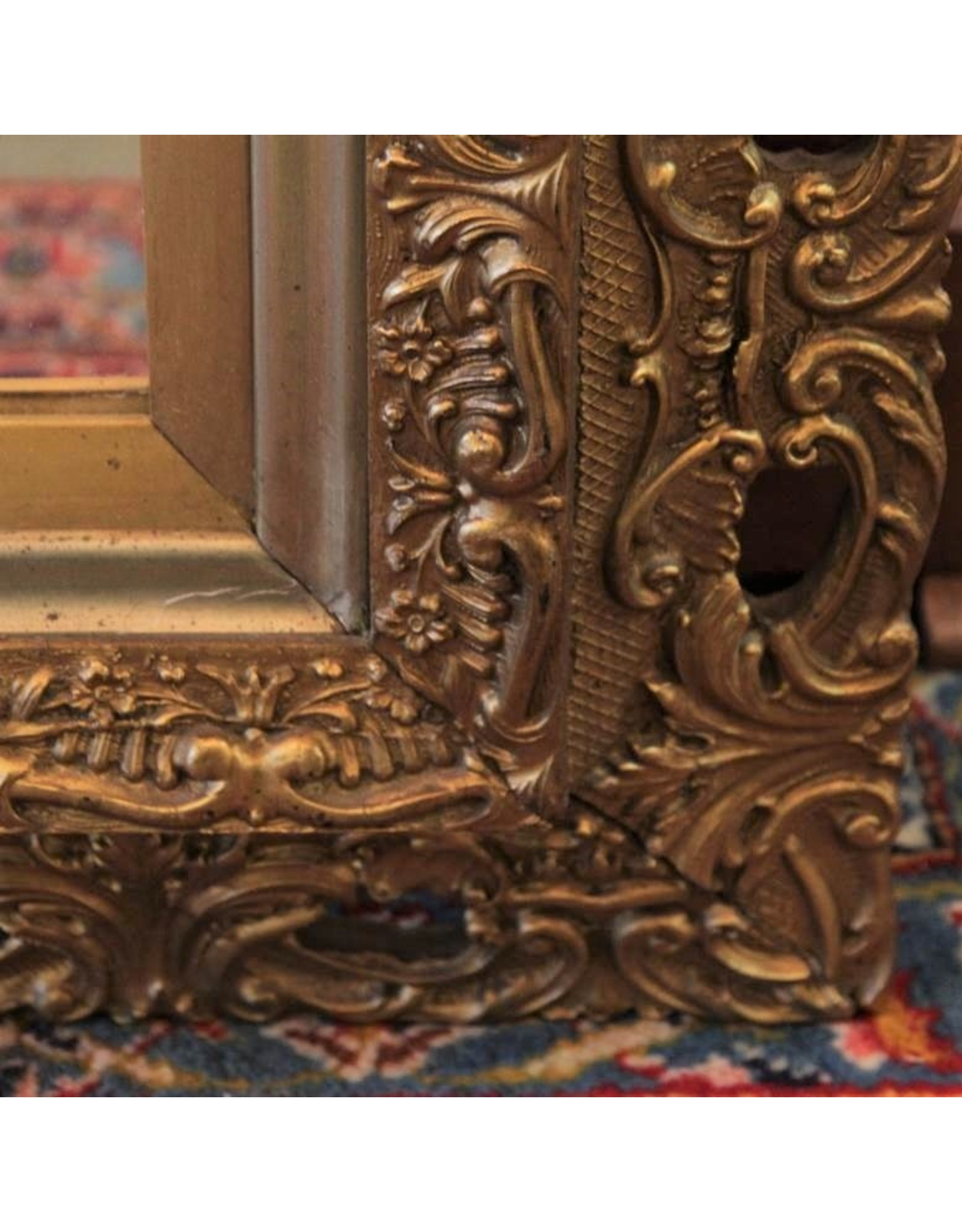 Mirror - large square gilt wood framed ready to hang