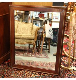 Contemporary cherry framed mirror