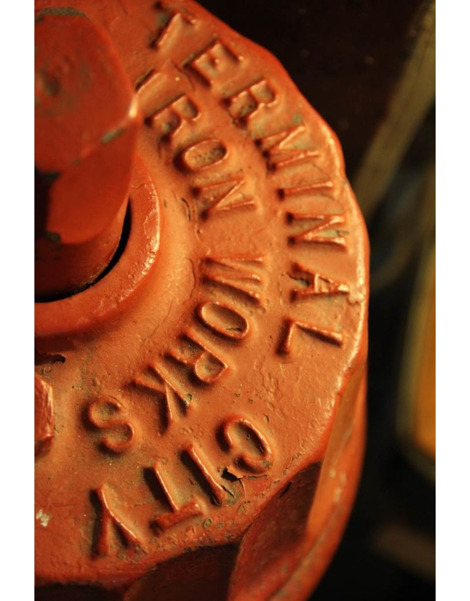 Fire hydrant - red, cast iron, heavy