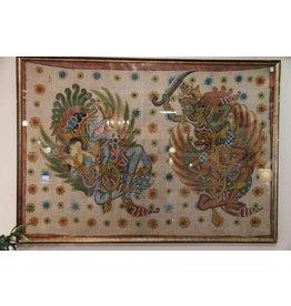 Hand-painted Indonesian artwork