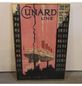 Original Cunard Line lithographed poster