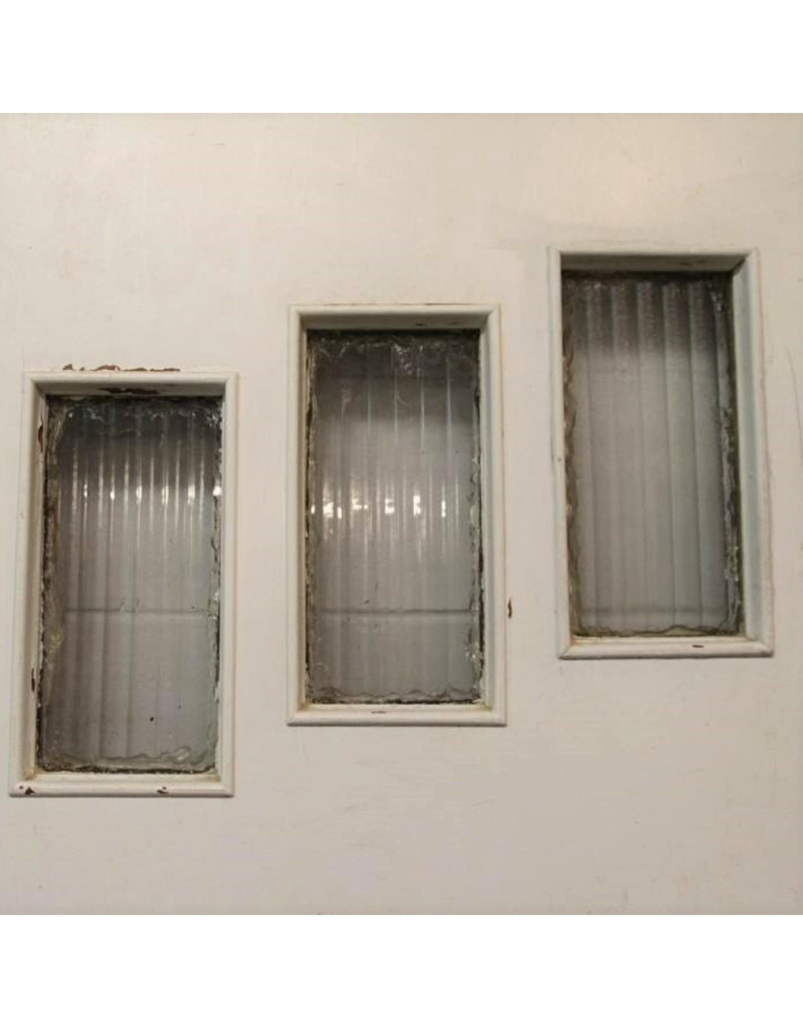 Door - wooden, exterior, staggered 3 windows, 32 x 80