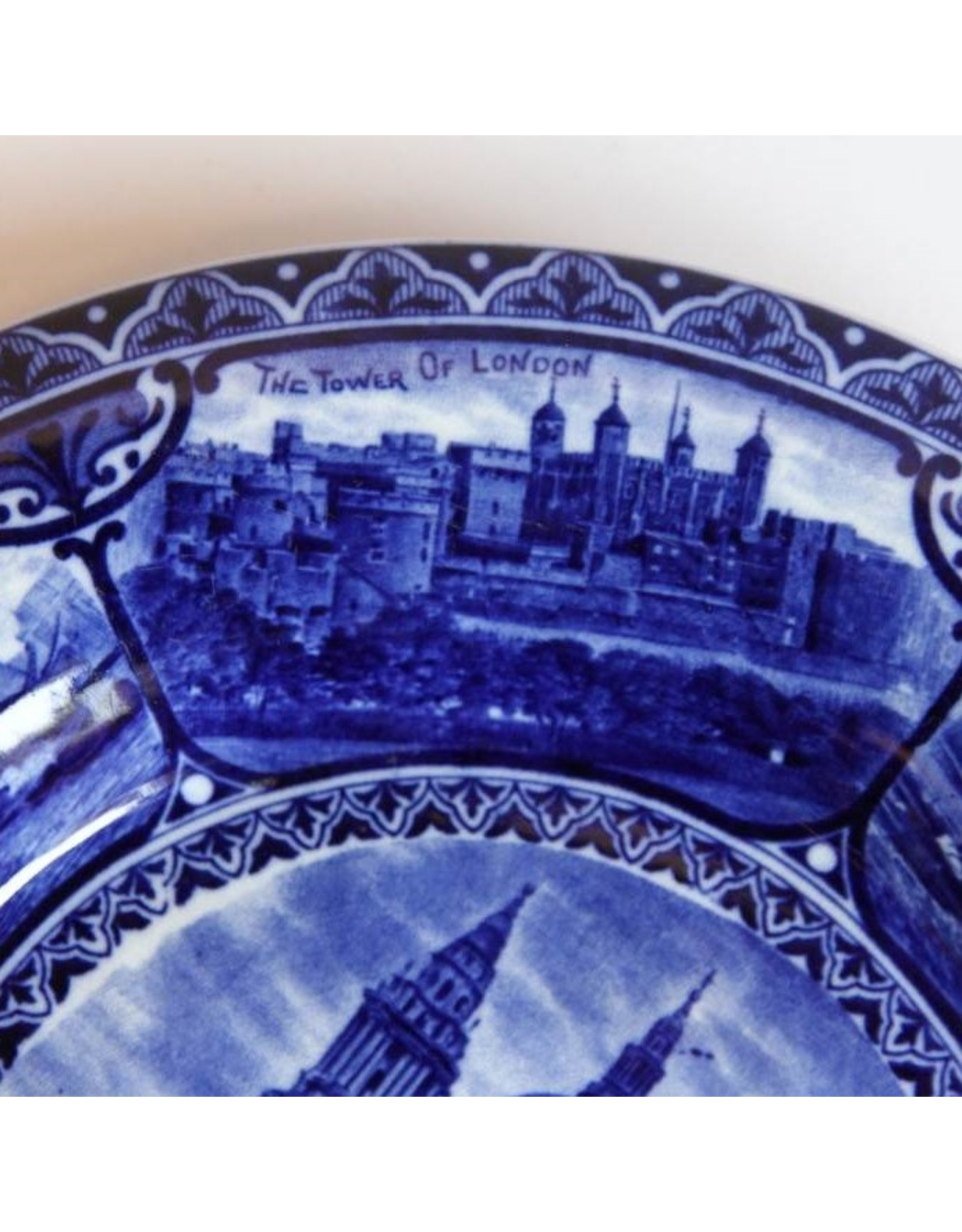 Plate - Views of London Collector Plate, Sampson Hancock & Sons, 1891-1935, blue